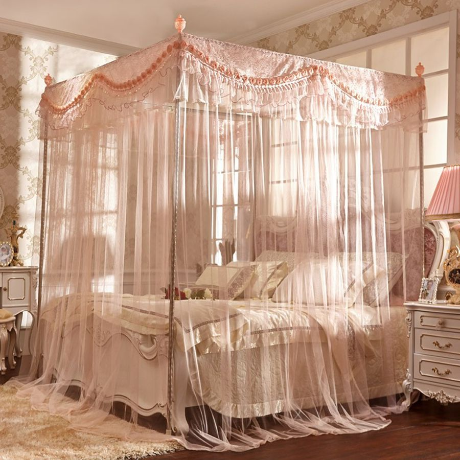 5 diy bed canopy you have to create for your beautiful for Bed with mosquito net decoration