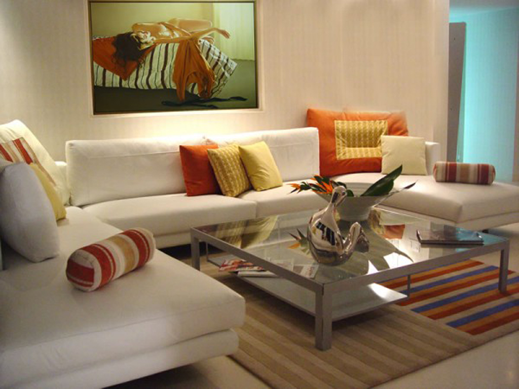 Ordinaire Awesome Design Of The House Decoration Idas With White Fabric Sofa At The  Living Room Areas