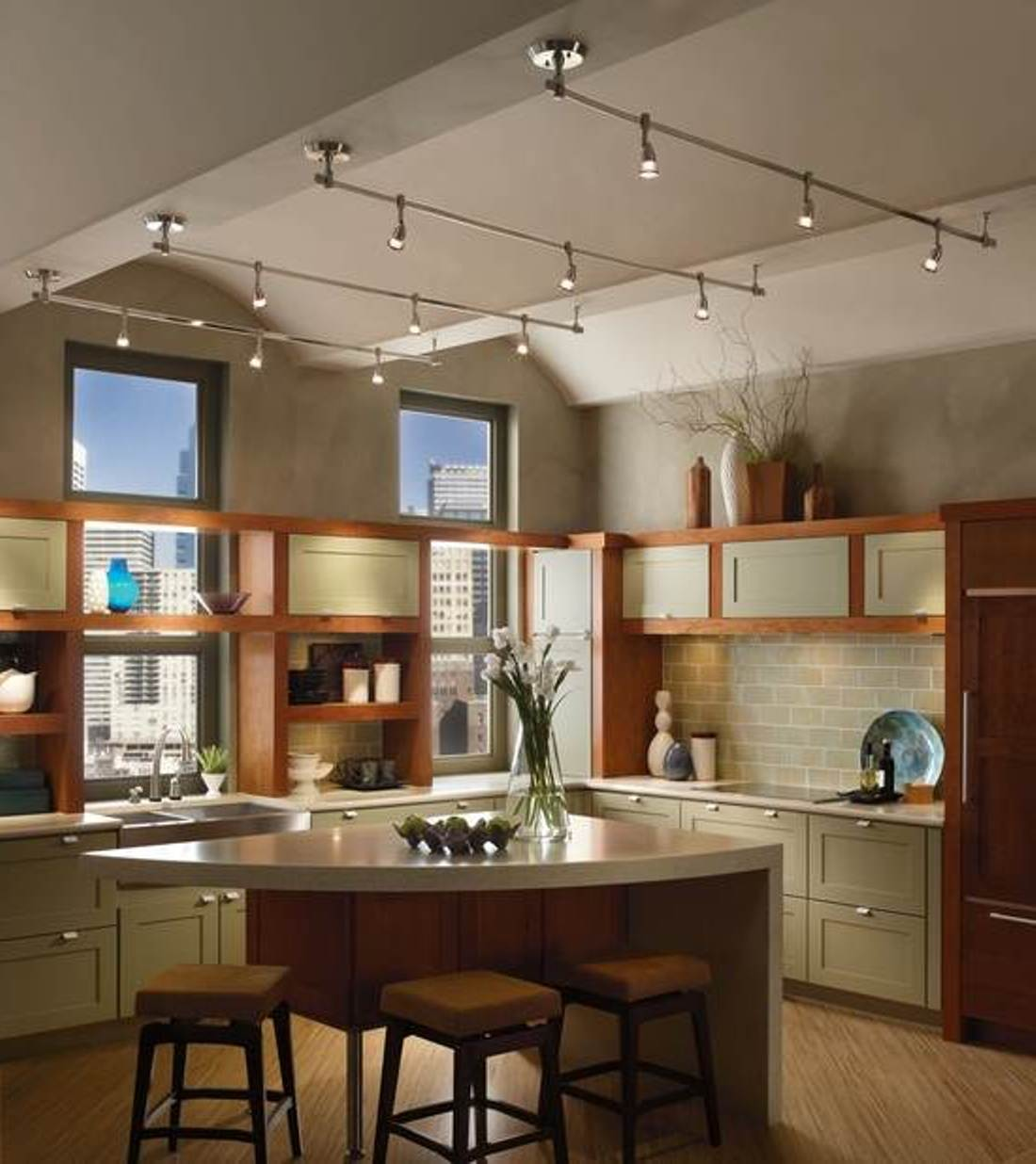 6 Interior Lighting Designs Use To Create An Ambience: Wonderful Kitchen Track Lighting Ideas