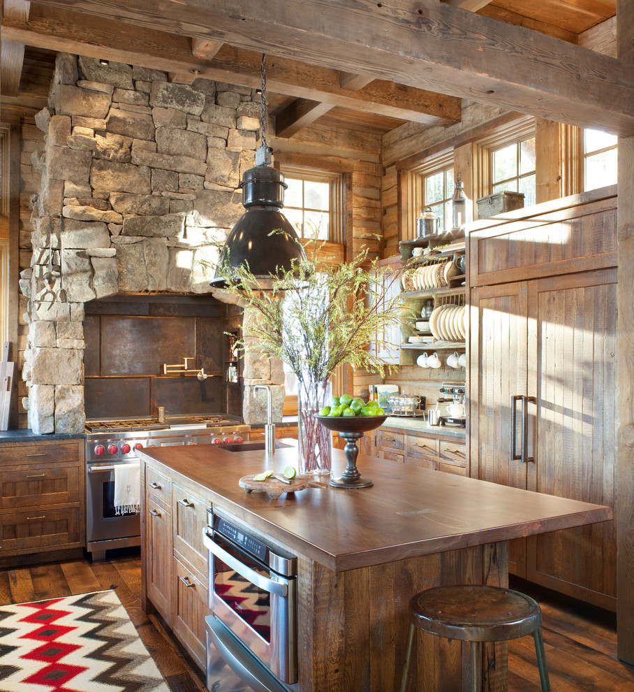 The best inspiration for cozy rustic kitchen decor midcityeast Log home kitchen design ideas