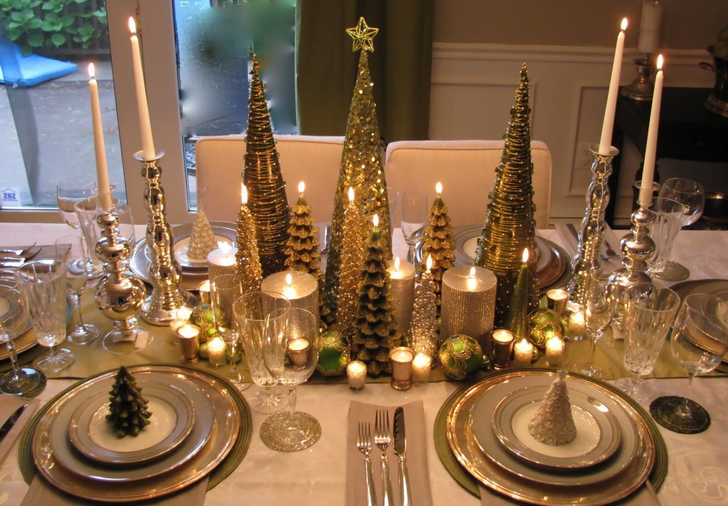 Beauteous Fake Pine Treess also Candle To Decorate Dining Table