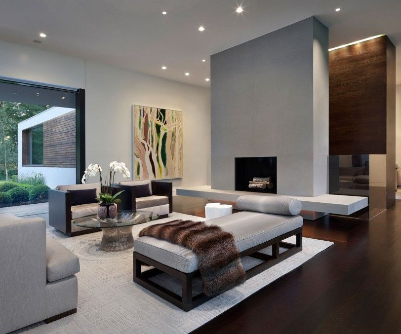 Beauteous Living Space Modern Style Home Using Chic Furniture and Lighting