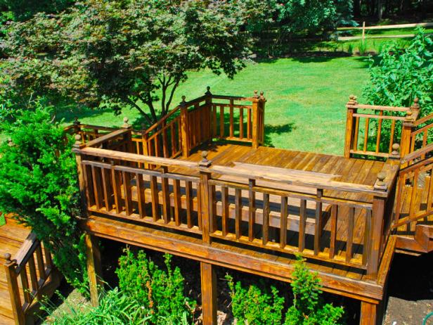 Beauteous Style of Small Deck Ideas Using Wooden Floor and Hand Rail