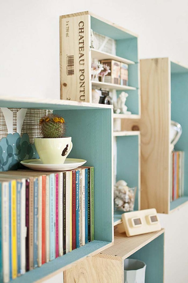 Bewitching Room Decor Using Wood Floating Shelves For Saving Books