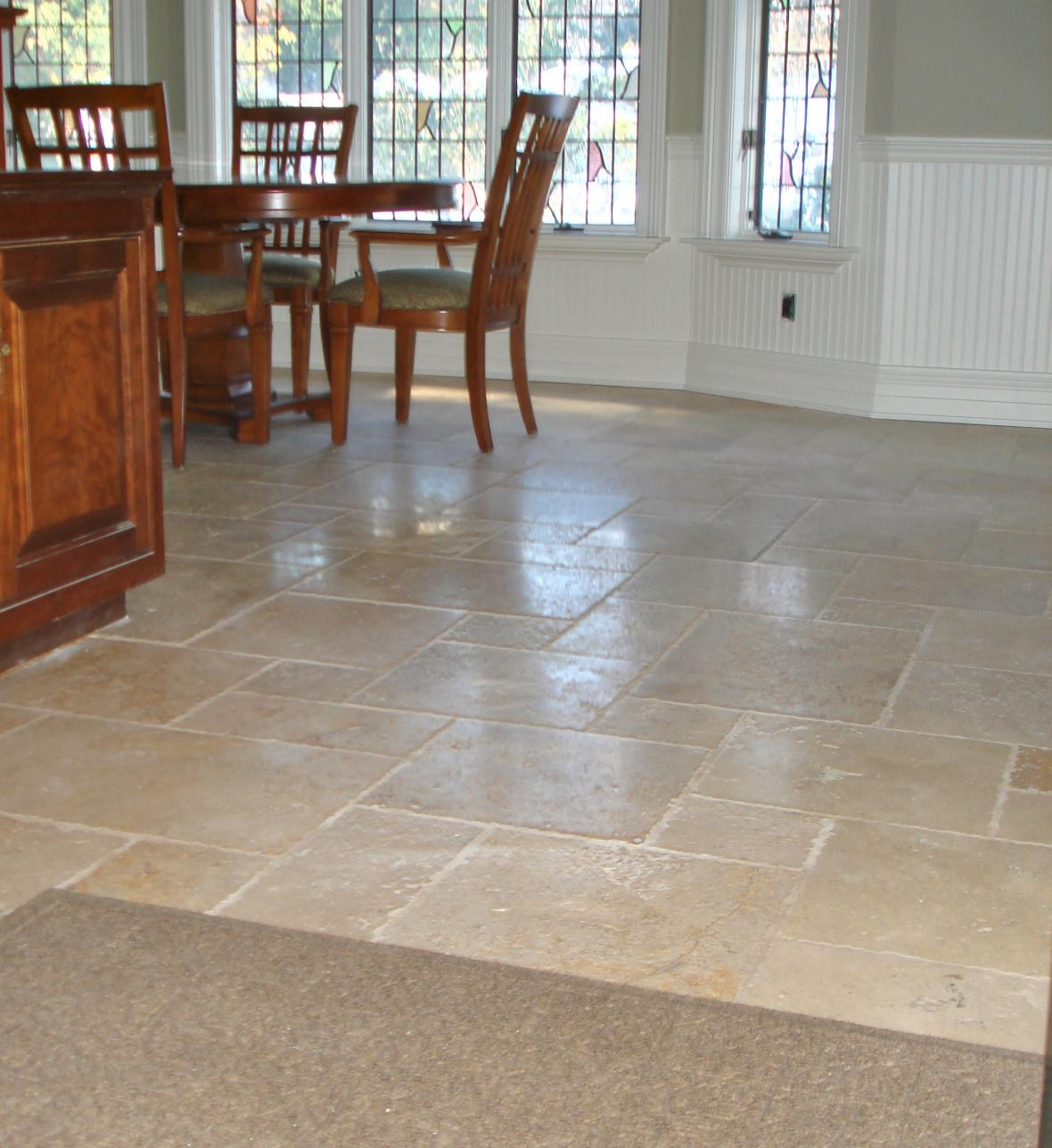 The best way to install kitchen tile floor midcityeast for Dining room flooring