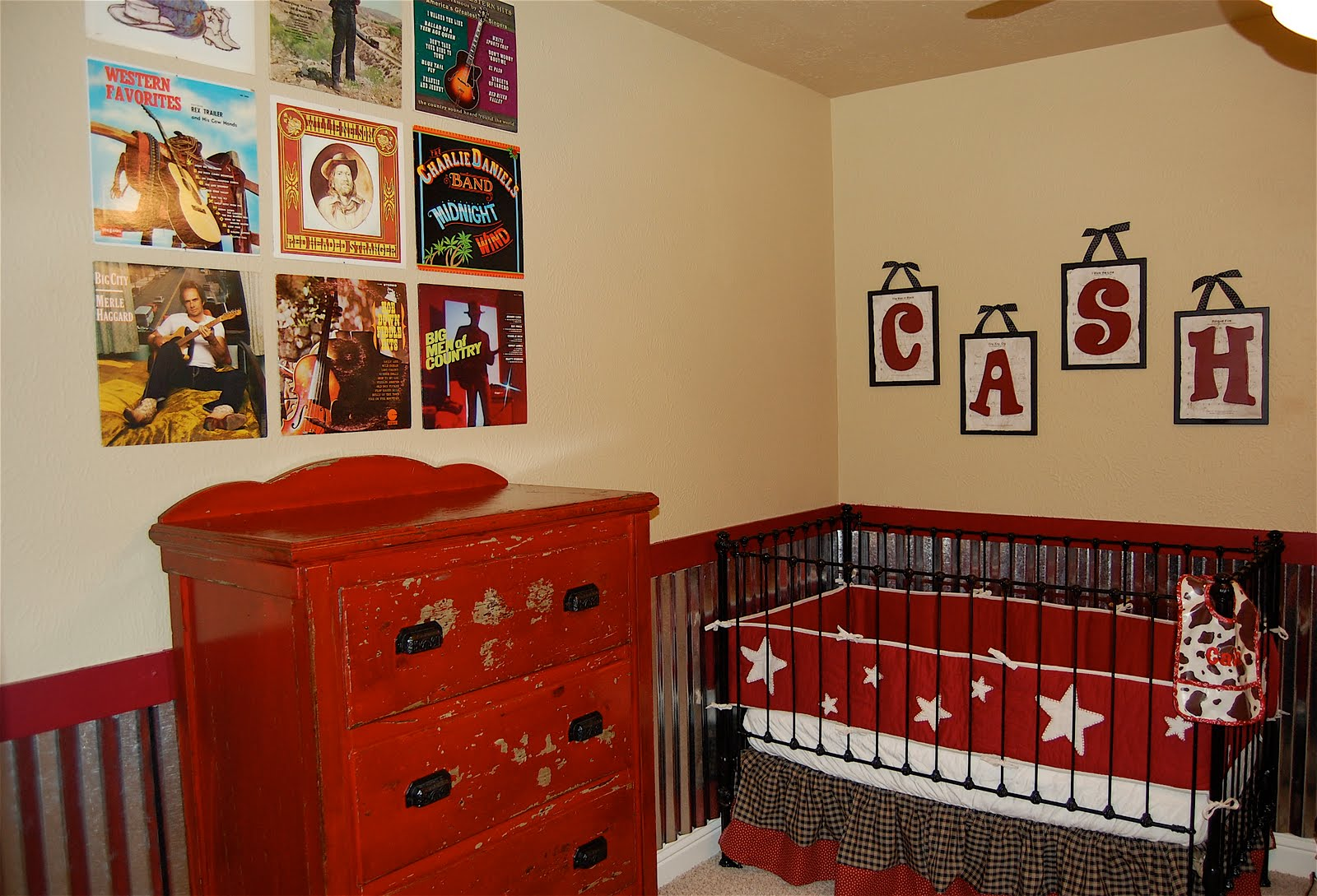 Cozy Design Of The Red Brown Bed Ideas Added With Red Brown Cabinets As The Nursery Room Ideas
