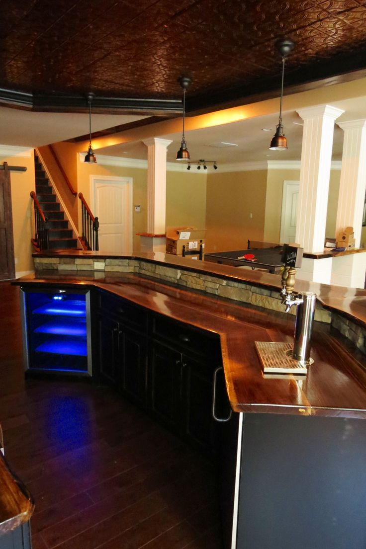 Cozy Design Of The Small Basement Ideas With Brown Wooden Floor Added With Brown Wooden Tops Ideas