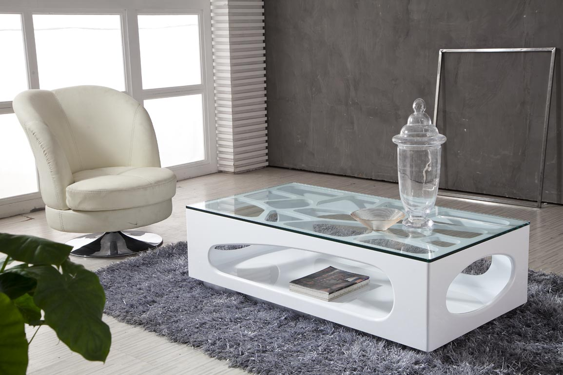Dainty Chair Plus Smooth Carpet Also Modern Glass Coffee Table