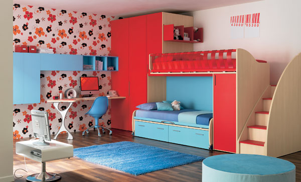 Delightful Bunk Beds For Toddlers also Set of Study Table