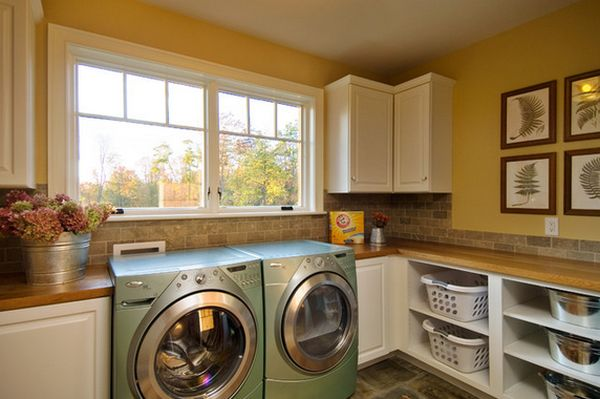 Delightful Cabinet With Brown Wooden Top For Laundry Room Storage Ideas