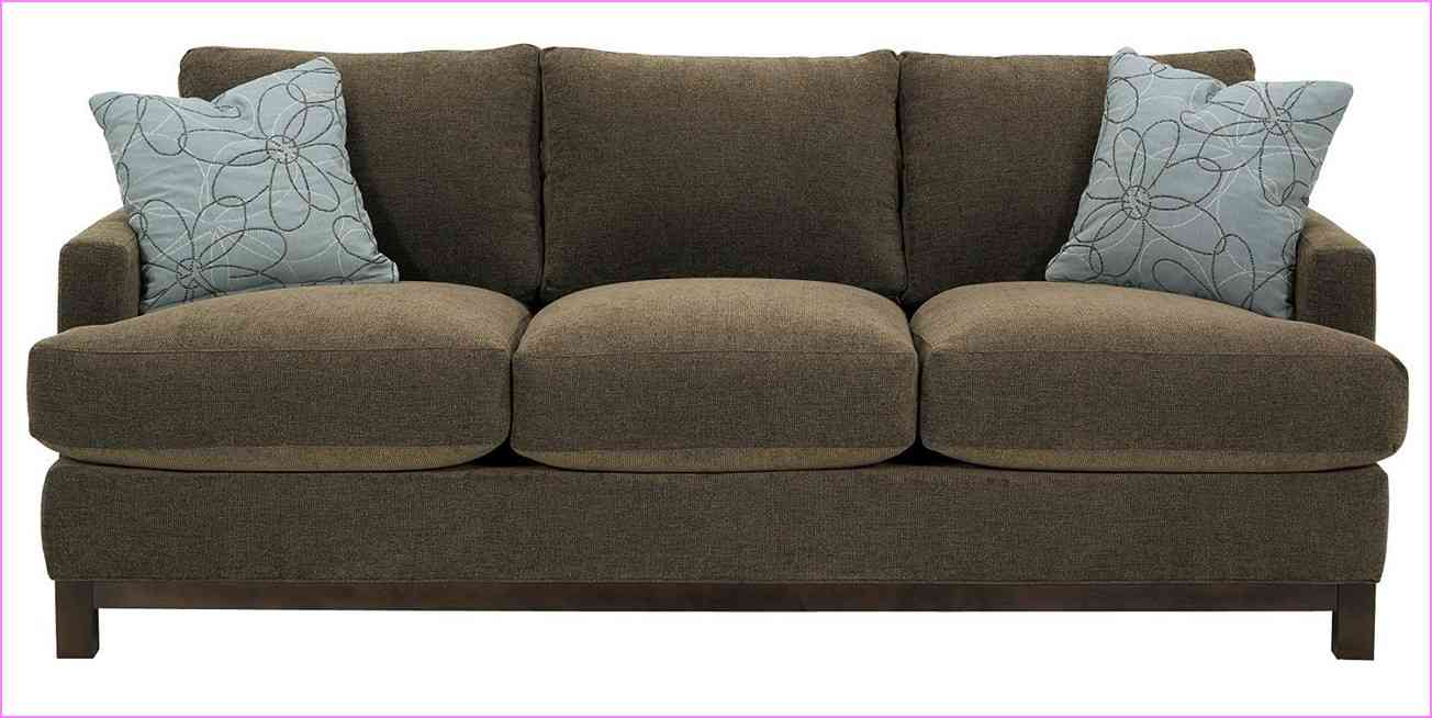 Fantastic Design Of The Brown Fabric Sofa Materials With Grey Pillow Ideas As The Furniture Size Apartment
