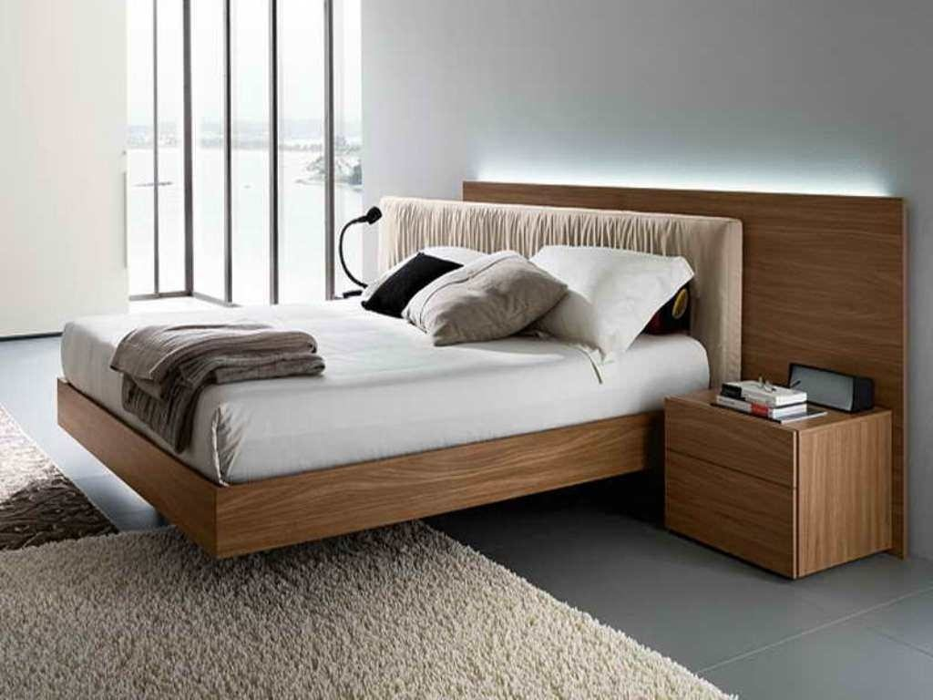 Fantastic Design Of The Brown Wooden Modern Framing Bed Added With Brown Wall Color Ideas