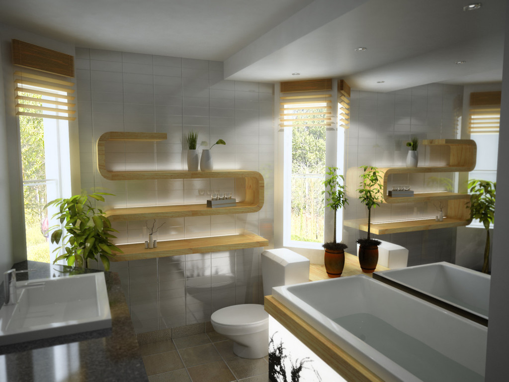 Frantic Hanging Shelves Also Vanity Plus Toilet For Modern Bathroom Ideas. Bathroom  Decor Ideas