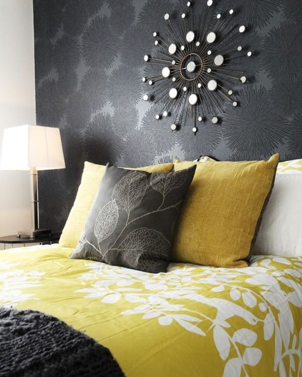 Impressive Pillow Cover also Background For Grey and Yellow Bedroom
