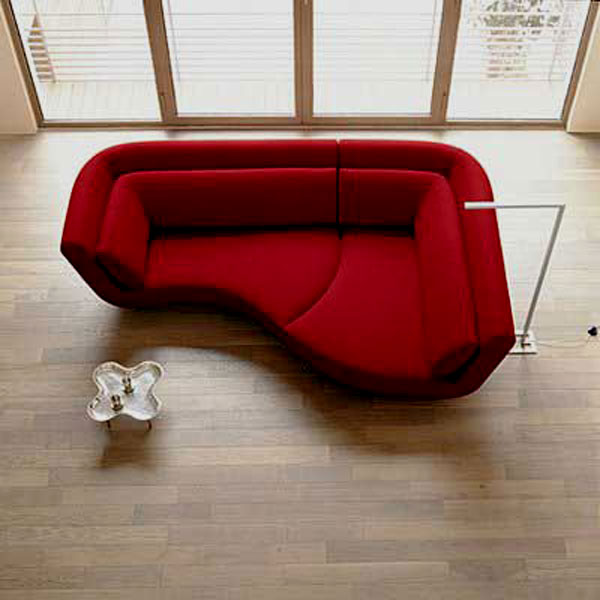 Interesting Design Of Red Small Couch For Bedroom also Table