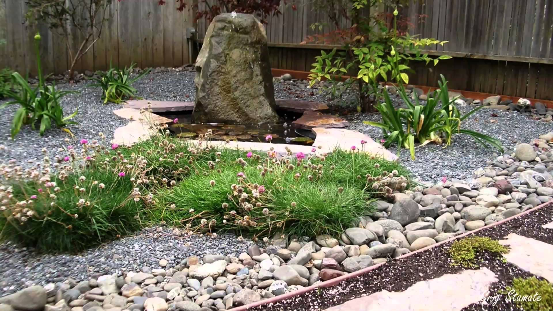 Inviting Japanese Garden With Pool also Rock Plus StoneDecor