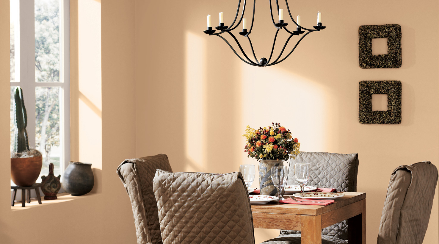 Lovely Design Of The Black Iron Chandeliers Ideas With Brown Wooden Table Ideas For Dining Room