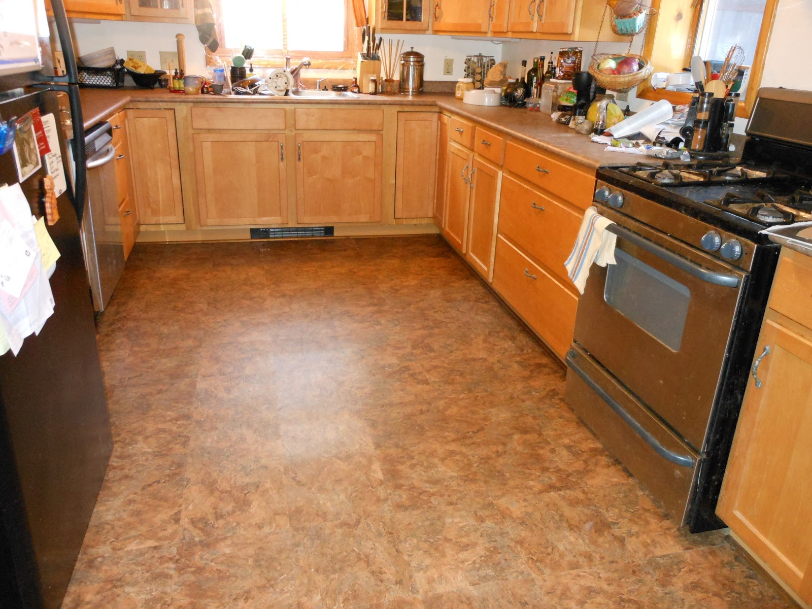 Magnificent Floor also Natural Wooden Cabinet To Decorate Narrow Kitchen