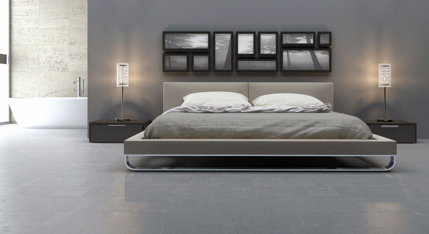 Marvelous Design Of The Bedroom Areas With Grey Wall Added With Grey Floor Ideas And Modern Wall Color Ideas