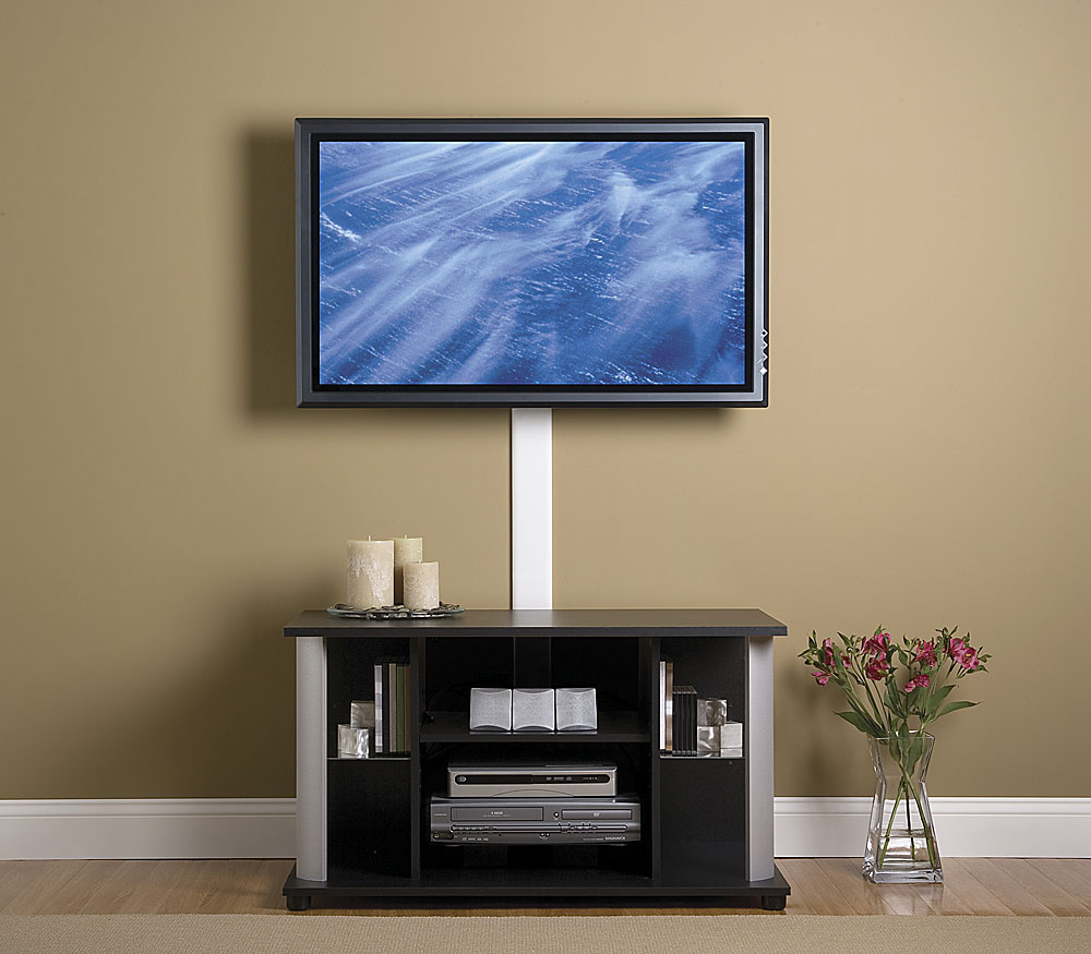Marvelous Design Of The Brown Wall Ideas Added With Flat Screen Tv Mounts With Brown Cabinets