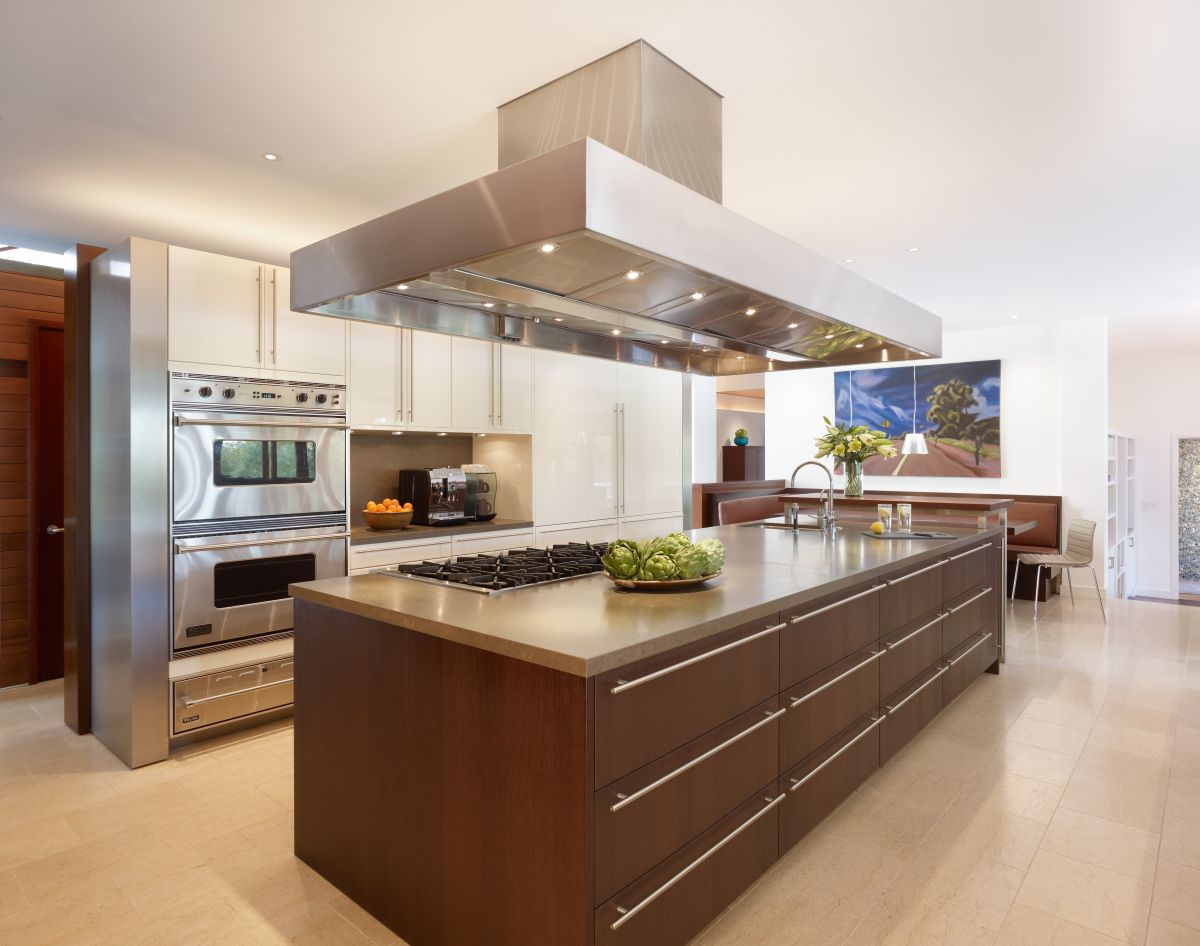 Marvelous Design Of The Brown Wooden Kitchen Island Design Added With Brown Wooden Floor Ideas