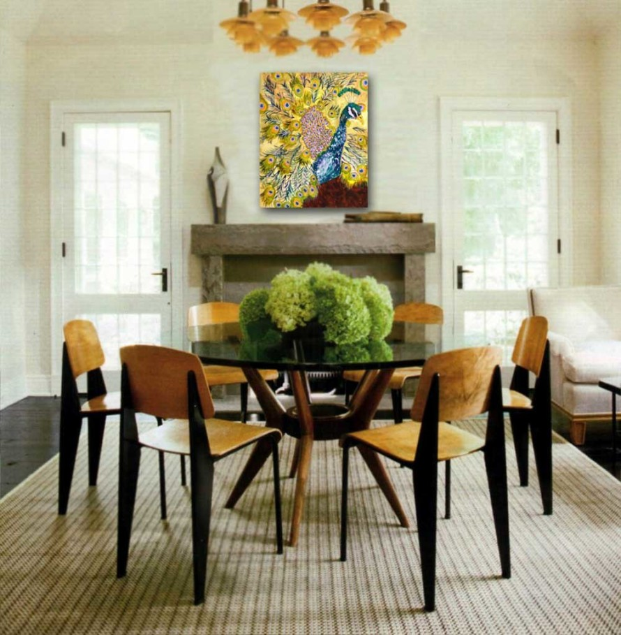 Marvelous Design Of The Dining Room Centerpieces With Rounded Wooden Table Added With Young Brown Wooden Chairs With Grey Rugs Ideas