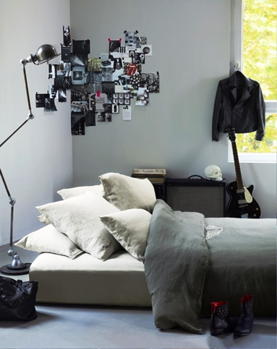 Marvelous Design Of The Grey Wall Ideas Added With Grey Floor As The Boy  Room Ideas