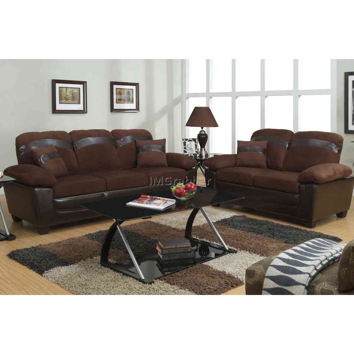 Marvelous Design Of The Living Room Areas With Brown Leather Sofa Added With Brown Rugs As The Apartment Size Furniture