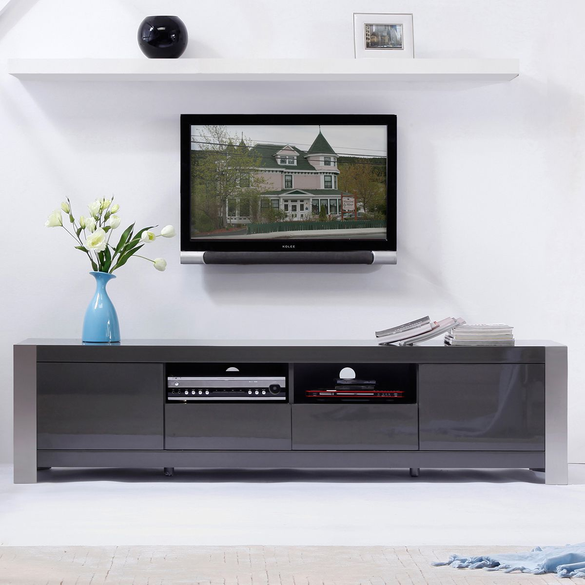 Choosing contemporary tv stands for modern entertainment Wall tv console design