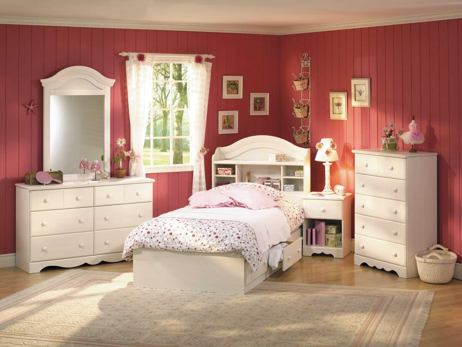 Minimalist Bed With Shelve also Dressers For Girls Bedroom Decor