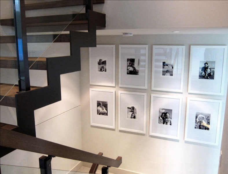 Perfect Interior Decor Using Nice Gallery Wall Frames Also Minimalist  Staircase