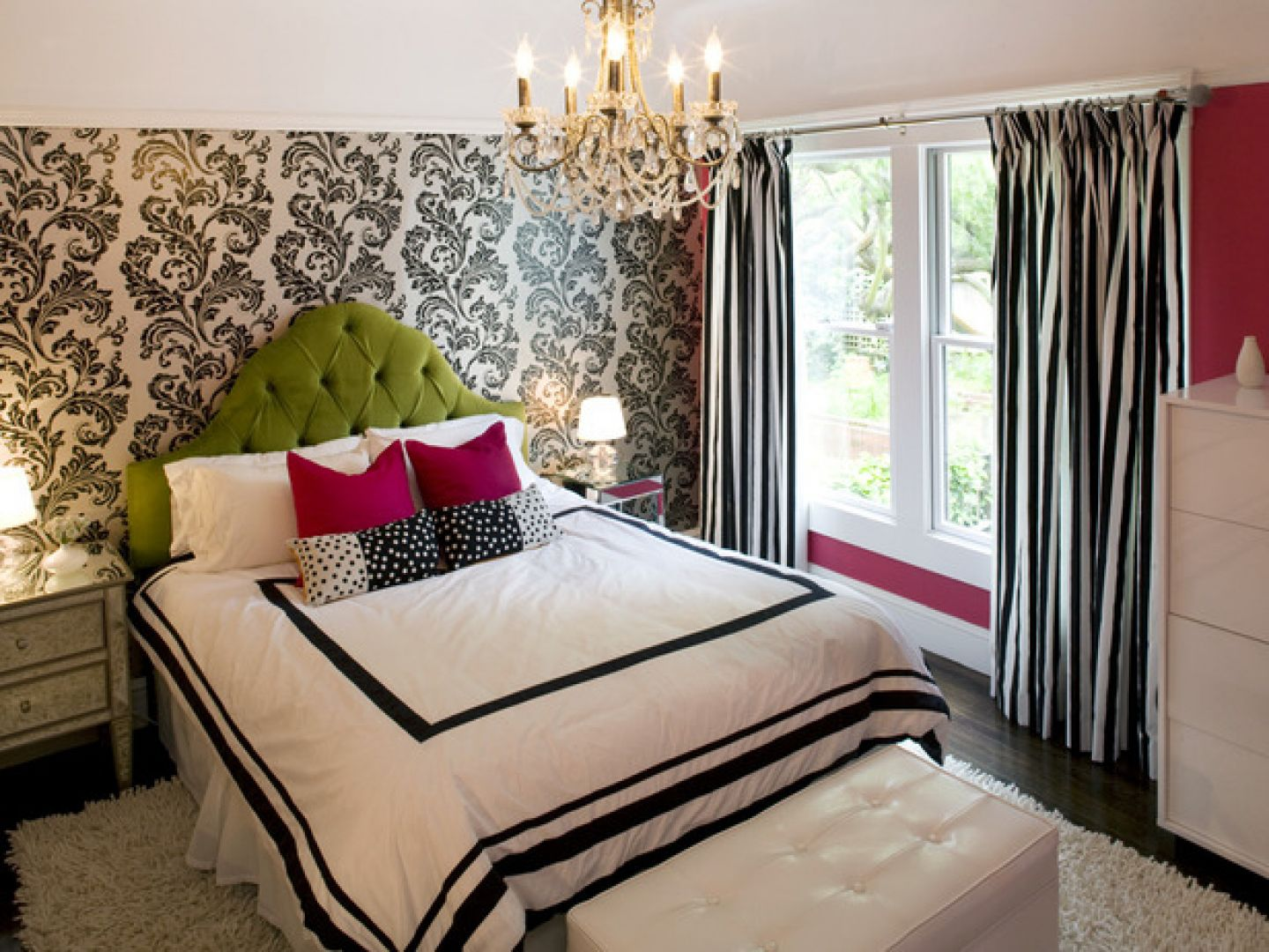 Stunning Background also Bed Under Chandelier For Decorating Girls Bedroom