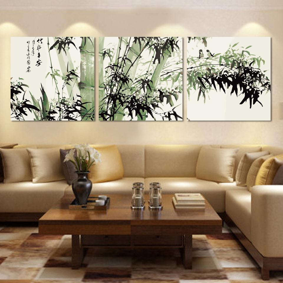 Adorable large canvas wall art as the wall decor of your for Decorating a large living room wall ideas