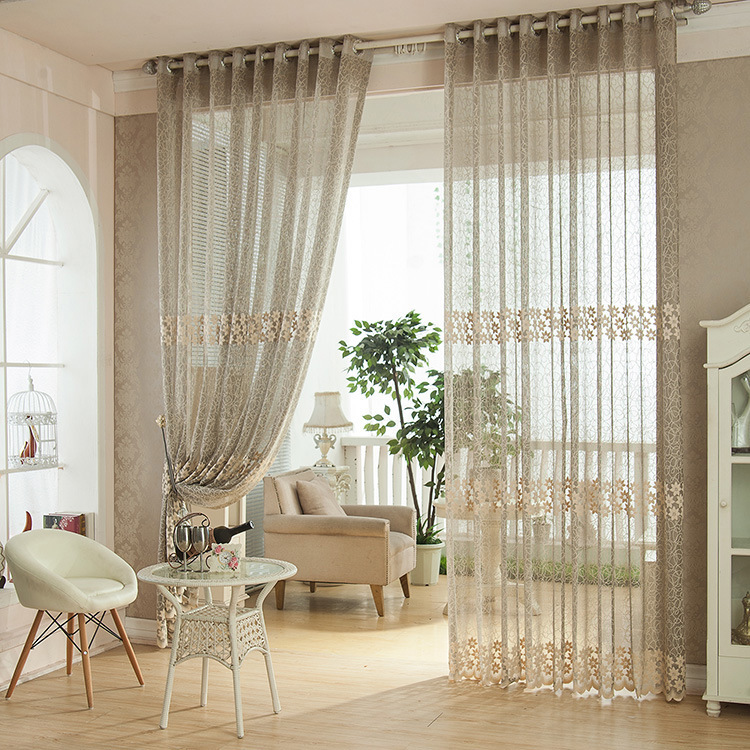 Stunning Design Of The Living Room Drapes With Brown Wooden Floor Ideas Added With Grey Curtain Ideas