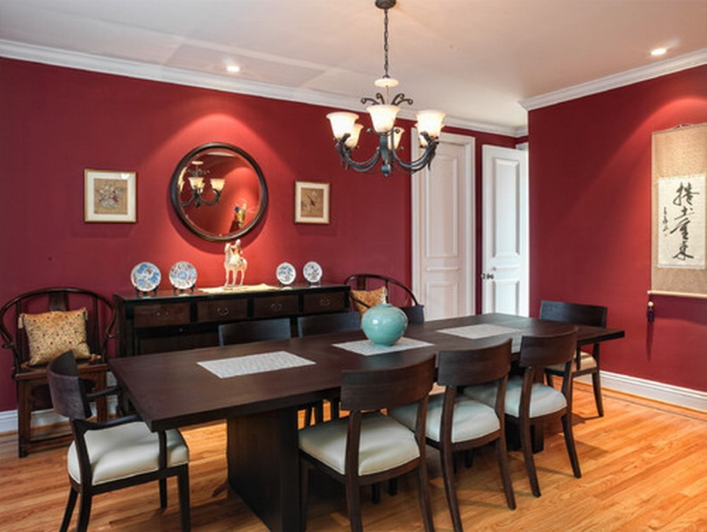 Red Colour Wall: Some Ideas For Determining The Right Dining Room Colors By