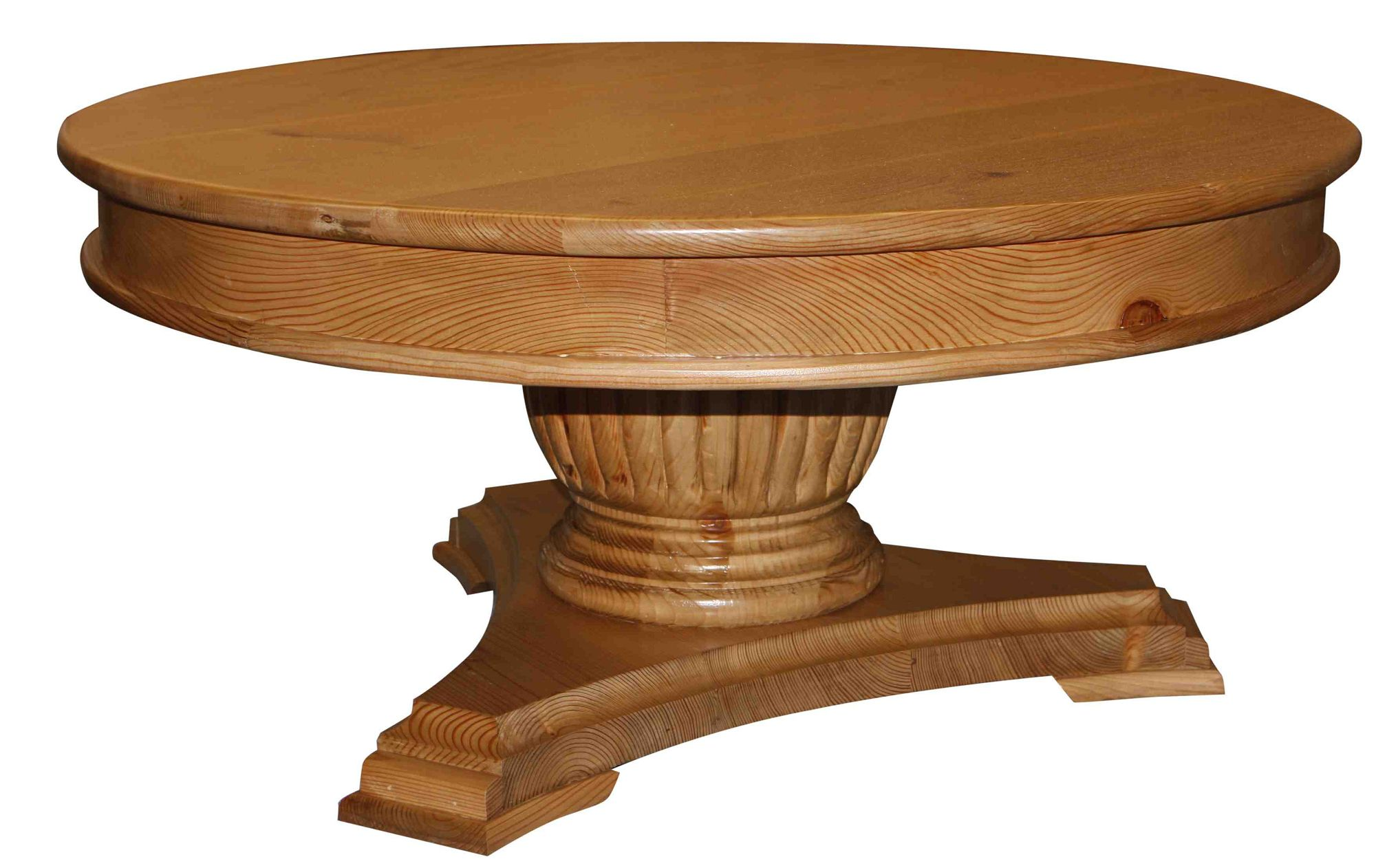 Stunning Design Of The Round Wood Coffee Table With Single Legs Made Of Wooden Oak Materials Ideas
