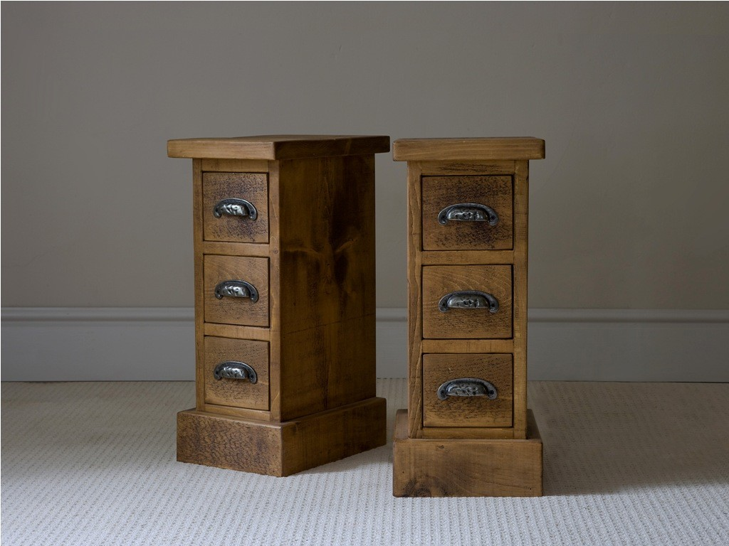 Stunning Design Of The Small Side Table Ideas With Brown Wooden Materials Added With Drawers On The Grey Floor Ideas