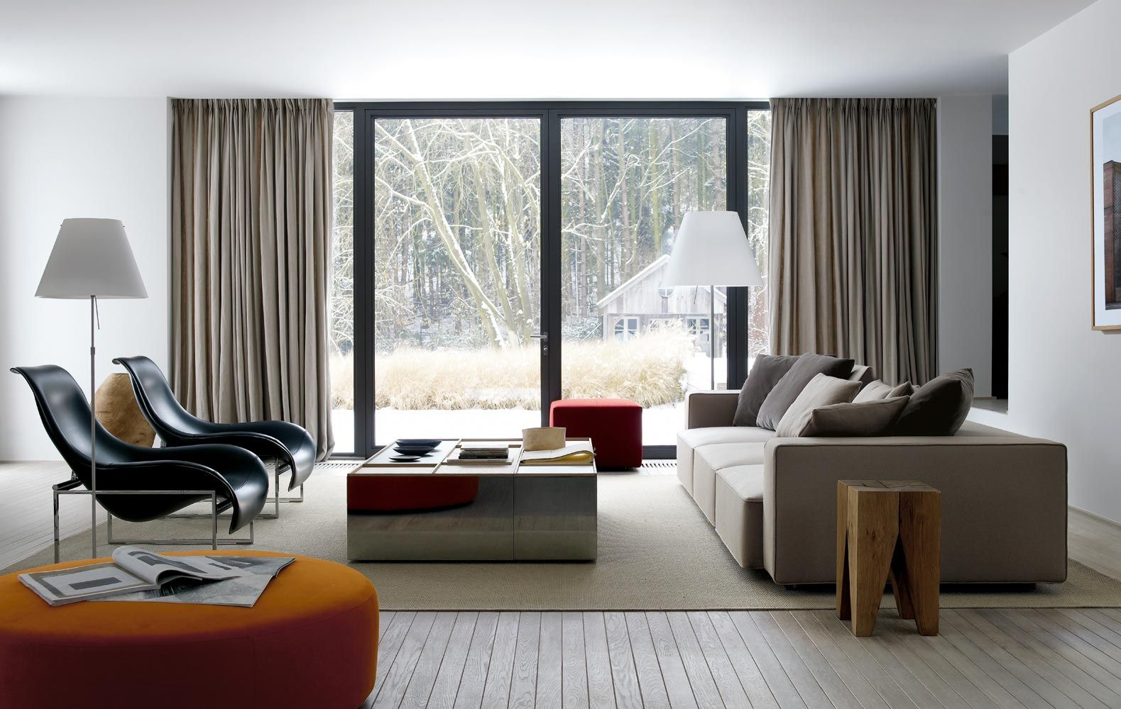 Stylish Living Room Sofas With Pillows Also Charming Chairs