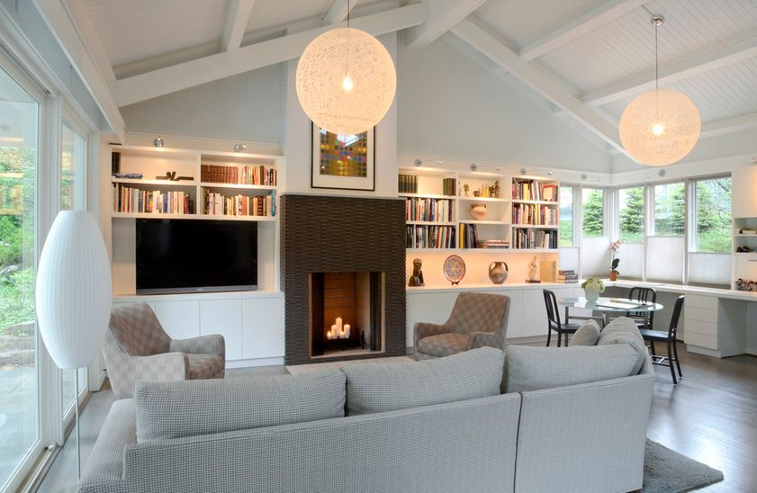 Sumptuous Living Area Classic American Homes Using Sofa and Chandelier