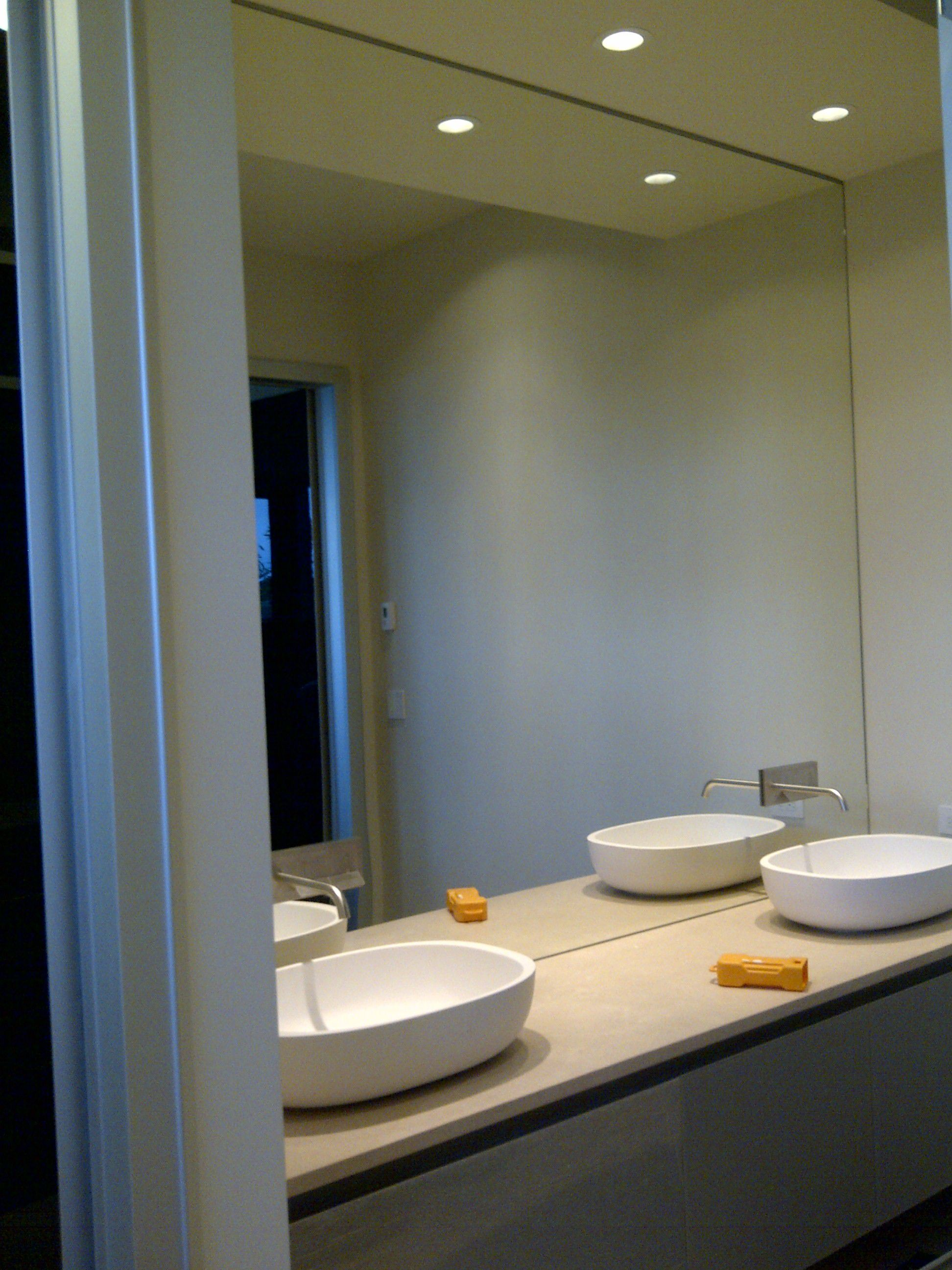 Superb Design Of The Bathroom Areas With White Double Sink Added With Big Mirror Bathroom Ideas