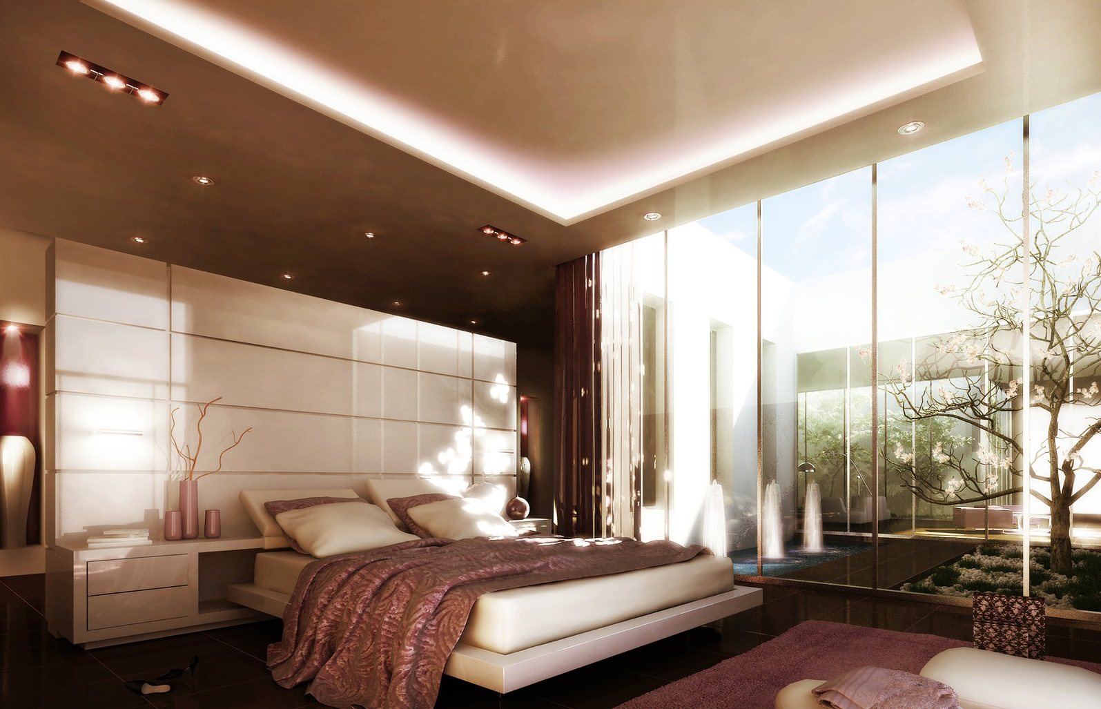 Superb Design Of The Bedroom Areas With Black Wall And White Ceiling Ideas As Well As The Bedroom Romantic Theme