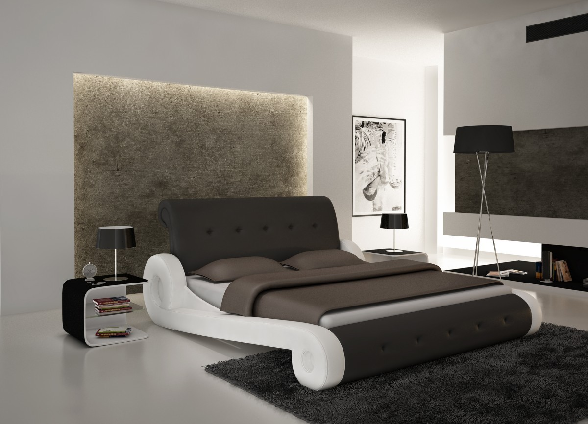 Superb Design Of The Bedroom Areas With White Wall Color Ideas And White Floor Added With Bed Frame Modern Ideas