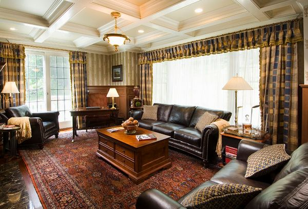 Tantalizing Carpet and Leather Sofa For Best Classic American Homes