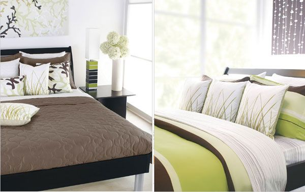 Winning Bedroom Decor Using Modern Bedding Sets also Flowers on Table