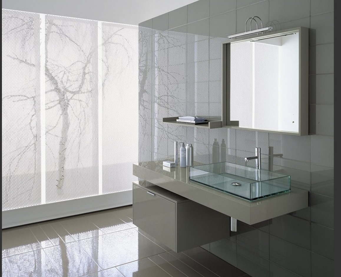 Wondrous Interior Bathroom With Conpemporary Bathroom Vanities and Mirror Decor
