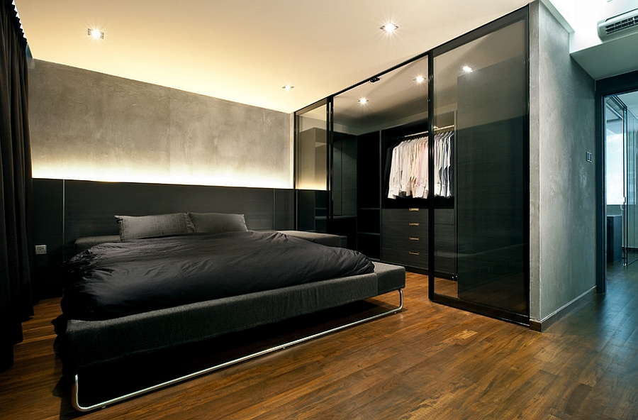 Adorable Design Of The Men Bedroom Ideas Added With Brown Wooden Floor Ideas Added With Black Bed Ideas