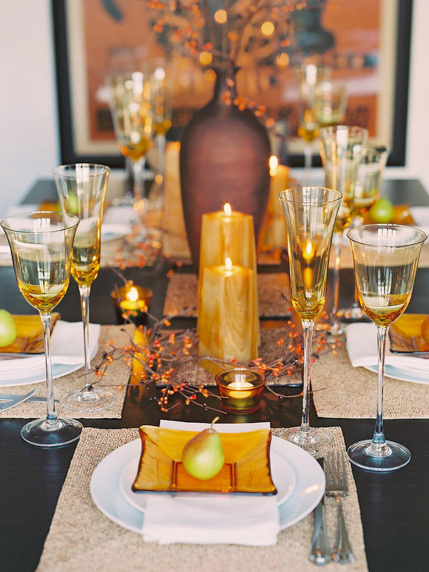 Adorable Design Of The Table Decoration Ideas With White Plate Ideas Added With Candle Ideas And Grey Napkins Ideas
