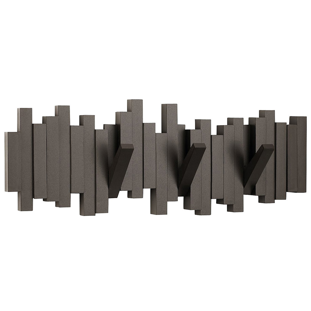 High Quality Adorable Design Of The Wall Mount Coat Rack With Black Wooden Materials  With Hidden Hanger Ideas