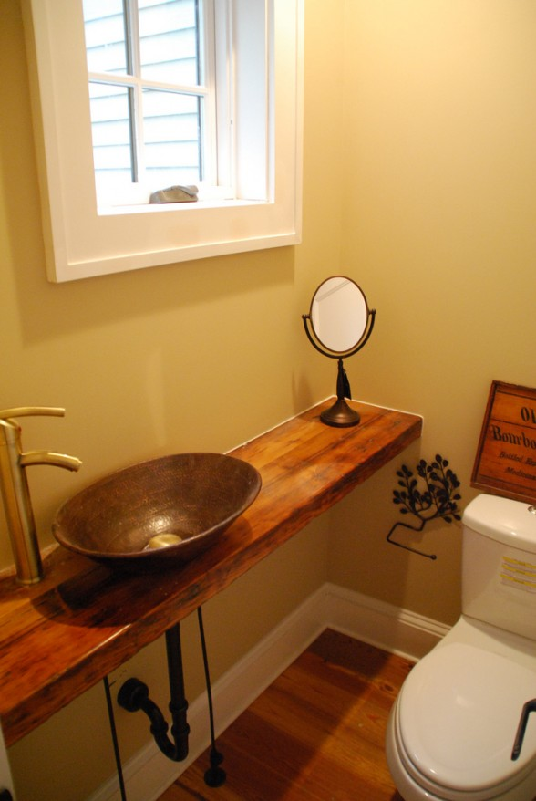 Amazing Design Of The Modern Bathroom Sinks With Brown Wooden Floor And Silver Bowl Sink Ideas