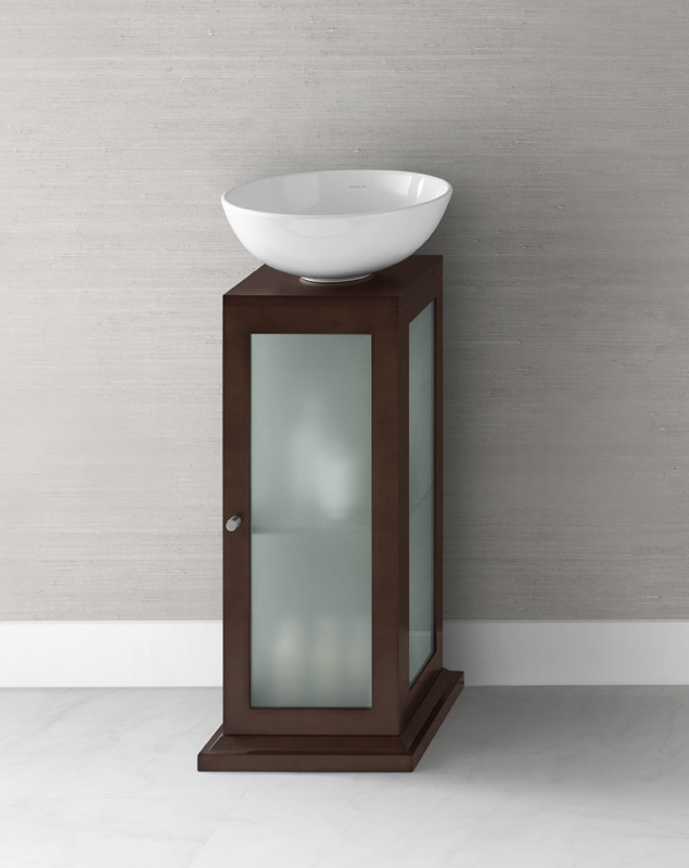 Amazing Design Of The Pedestal Sink Cabinet With Single Wooden Materials Ideas With White Bowl Sink Ideas